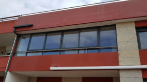Cierre de balcón en corredera 4 hojas