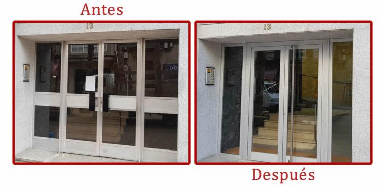 Sustitución de portal de edificio